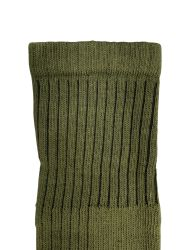 6 Bulk Yacht & Smith Military Grade Wick Dry Crew Socks ,heavy Duty Boot Sock, Army Green