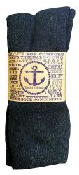 60 Bulk Yacht & Smith Men's Thermal Crew Socks, Cold Weather Thick Boot Socks Size 10-13