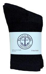 120 Bulk Yacht & Smith Kids Cotton Crew Socks Black Size 4-6