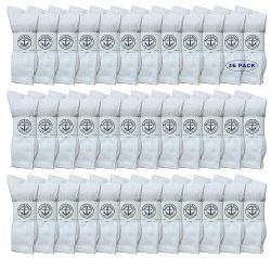 36 Bulk Yacht & Smith Women's Cotton Crew Socks White Size 9-11