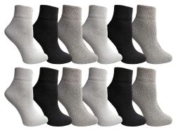 12 Bulk Yacht & Smith Wholesale Bulk Womens Mid Ankle Socks, Cotton Sport Athletic Socks - Assorted, 12 Pairs