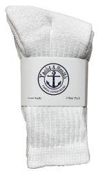 120 Bulk Yacht & Smith Kids Cotton Crew Socks White Size 4-6