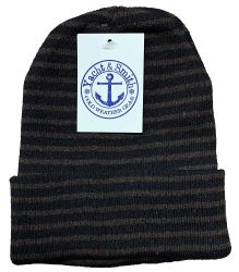 72 Bulk Yacht & Smith Unisex Knit Winter Hat With Stripes Assorted Colors