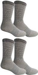 4 Bulk Yacht & Smith Merino Wool Socks For Hiking, Trail, Hunting, Winter, By Socks'nbulk (4 Pairs Gray B, Mens 10-13)