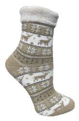 24 Bulk Yacht & Smith Womens Thick Soft Knit Wool Warm Winter Crew Socks, Patterned Lambswool, FAIR ISLE PRINT