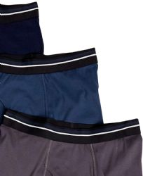 24 Bulk Yacht & Smith Mens 100% Cotton Boxer Brief Assorted Colors Size X Large