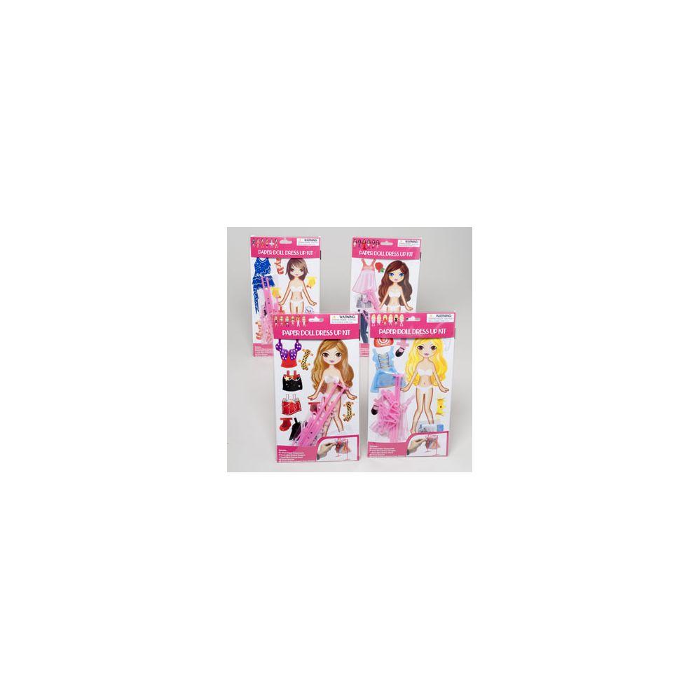 108 Bulk Paper Doll Dress Up Playset 4asst Styles