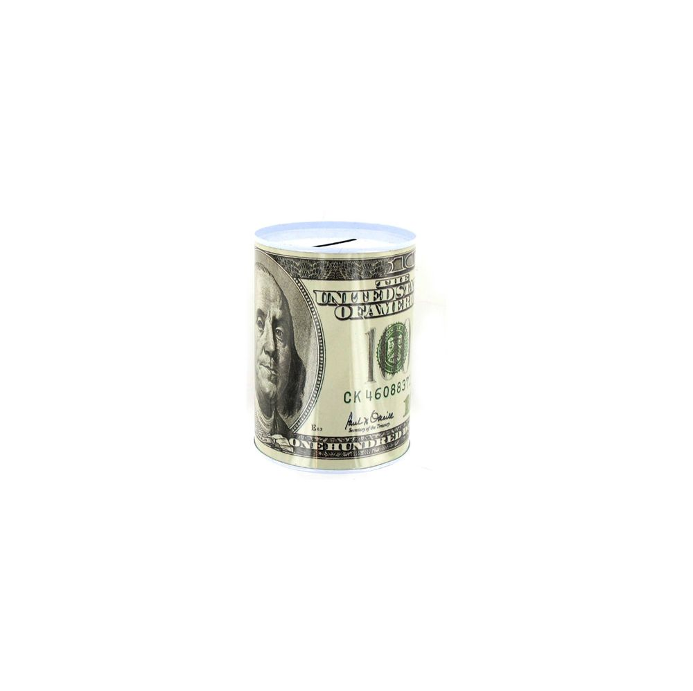 72 Bulk 100 Dollar Bill Tin Money Bank