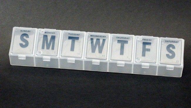 "72 Bulk Jumbo Pill Organizer, 9"""