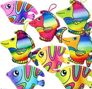 """48 Bulk 5.5 """" Plush Tropical Fish"""
