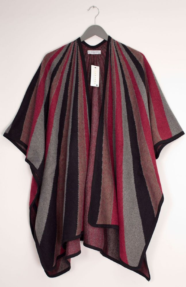 12 Bulk Vertical Multi Stripe Cape Wine