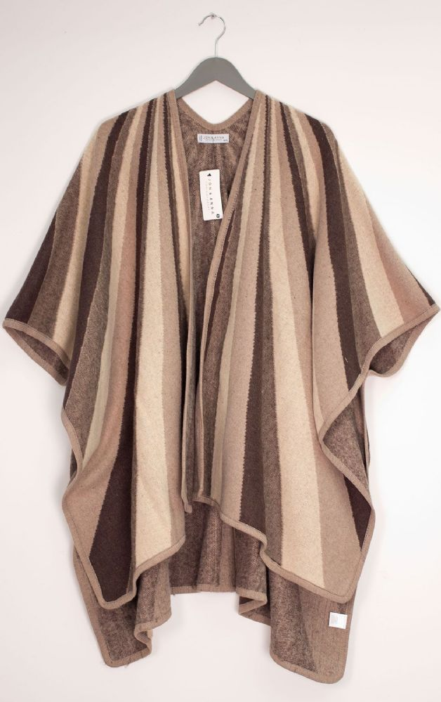 12 Bulk Vertical Multi Stripe Cape Taupe