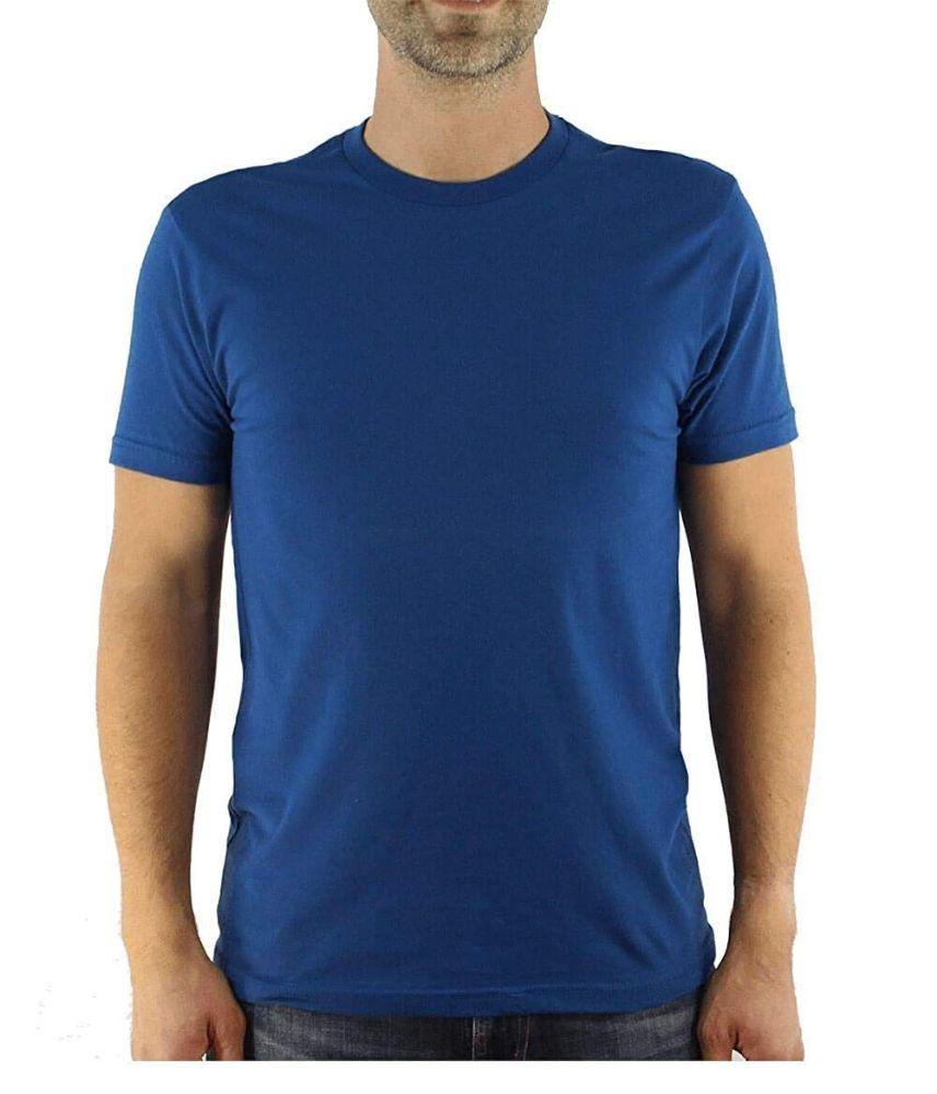 12 Bulk Mens Cotton Crew Neck Short Sleeve T-Shirts Royal Blue, X-Large
