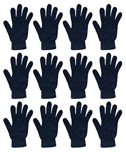 12 Bulk Yacht & Smith Unisex Black Magic Gloves