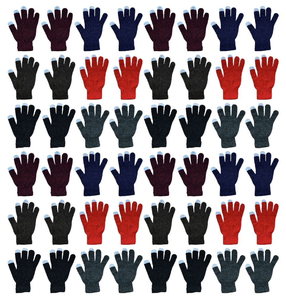 48 Bulk Yacht & Smith Unisex Winter Texting Gloves, Warm Thermal Winter Gloves
