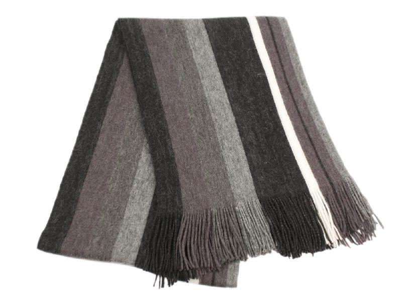 18 Bulk Mens Winter Knit Stripe Scarf In Black