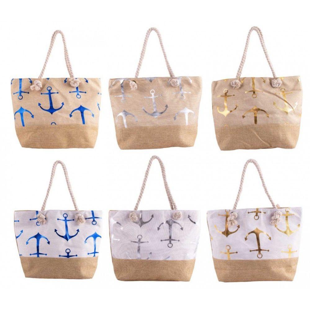 """24 Bulk 20"""" Large Beach Bulk Tote Bags in 6 Assorted Colors"""