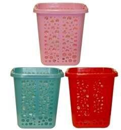 10 Bulk Rectangle Plastic Laundry Basket