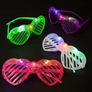 180 Bulk Light Up Heart Shutter Glasses