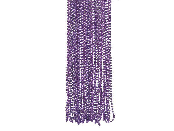 108 Bulk 4 Pack Purple Metallic Bead Necklaces