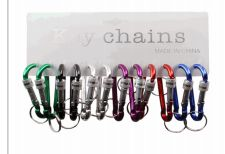 100 Bulk Keychain Metal Clip