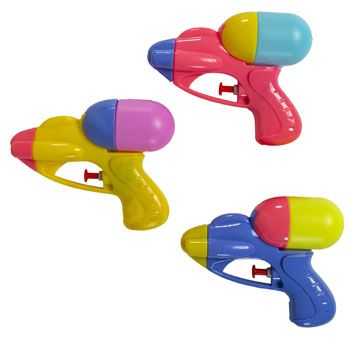 55 Bulk Mini Squirt Gun Plastic Assorted Colors $1.99