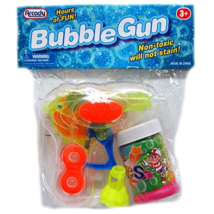 """72 Bulk 4.5"""" W/U LIGHT-UP BUBBLE GUN IN POLY BAG W/HEADER, 3 ASSRT"""