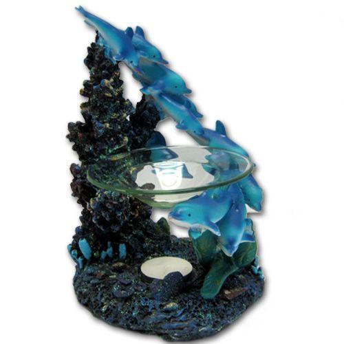 24 Bulk Dolphin Coral Polyresin Tealight Burner