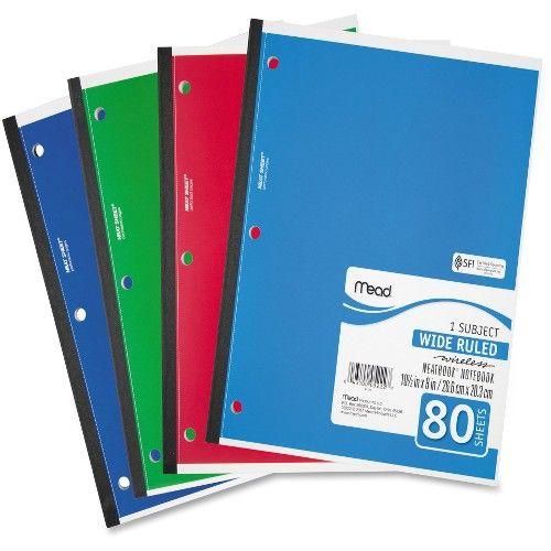 Bulk Mead 05222 1-Subject Wireless Notebook