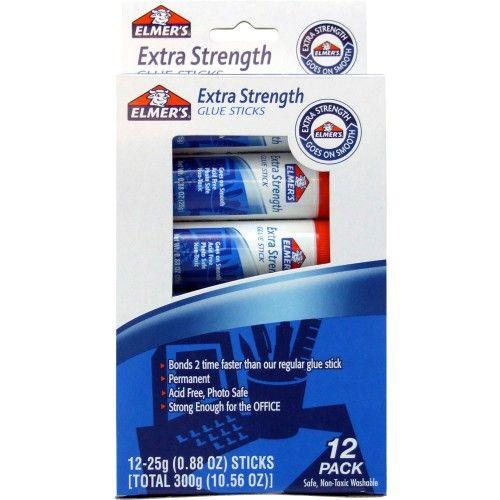 48 Bulk Elmer's Extra Strength Permanent Glue Stick