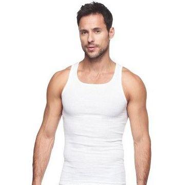 72 Bulk Mens Cotton A Shirt Undershirt Solid White Size L