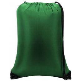 60 Bulk Value Drawstring Backpack Kelly Green