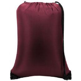 60 Bulk Value Drawstring Backpack - Maroon