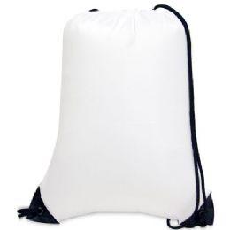 60 Bulk Value Drawstring Backpack - White