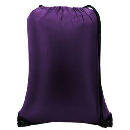 60 Bulk Value Drawstring BackpacK-Purple