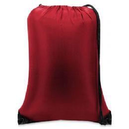 60 Bulk Value Drawstring BackpacK-Red