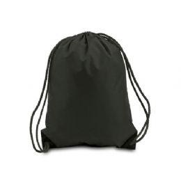 60 Bulk Drawstring Backpack - Black