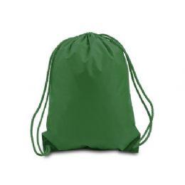 60 Bulk Value Drawstring BackpacK-Forest