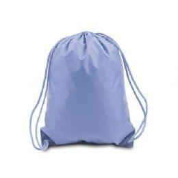 60 Bulk Drawstring Backpack - Light Blue