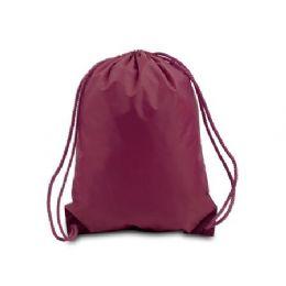 60 Bulk Drawstring Backpack - Maroon