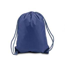 60 Bulk Drawstring Backpack - Navy