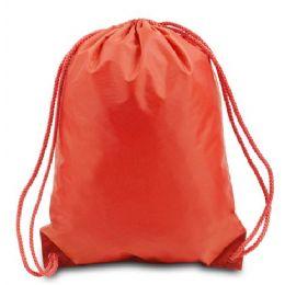 60 Bulk Drawstring Backpack - Orange