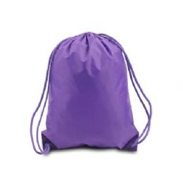 60 Bulk Drawstring Backpack - Purple