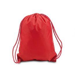 60 Bulk Drawstring Backpack - Red