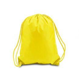 60 Bulk Drawstring Backpack - Bright Yellow