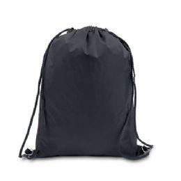 48 Bulk Drawstring Backpack - Black