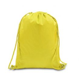 48 Bulk Drawstring Backpack - Bright Yellow