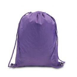 48 Bulk Drawstring Backpack - Purple