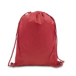 48 Bulk Drawstring Backpack - Red