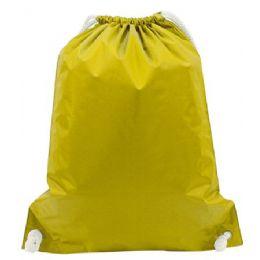 48 Bulk White Drawstring BackpacK-Bright Yellow